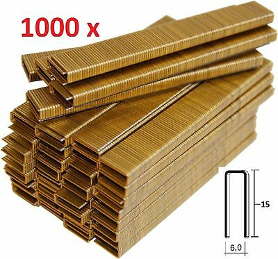 1000 GRAPAS DE 6mm X 15mm PARA GRAPADORA ELECTRICA PARKSIDE PET ENVIO GRATIS 55