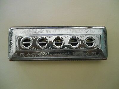 Very Rare Vintage Concertone  Trade Mark . Double sided Harmonica Made in German