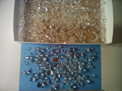 Antique Crystal Glass Beads, Large Lot, Various Sizes