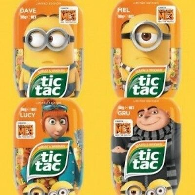 Tic Tac Minions Limited Edition 100ml Mints Flavour Pack of 4. Best Price
