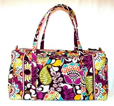 New VERA BRADLEY large duffeL PLUM CRAZY