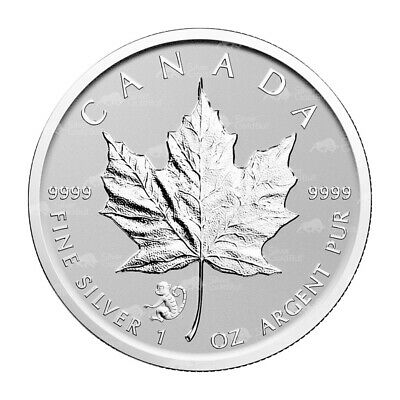 1 oz 2016 Canadian Maple Leaf Year of the Monkey Privy Silver Coin