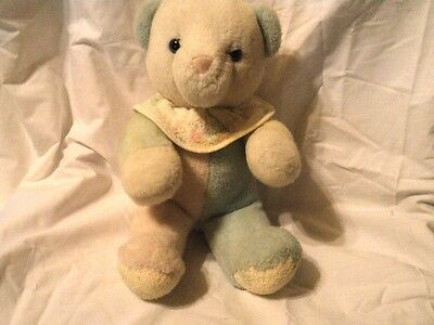 Vintage bantam terry cloth musical wind up plush bear