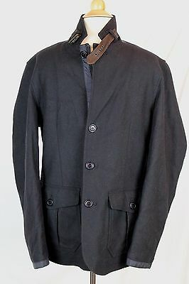 $449 J Crew Barbour Barkston Jacket Navy Blue S Small Wool Coat B0864