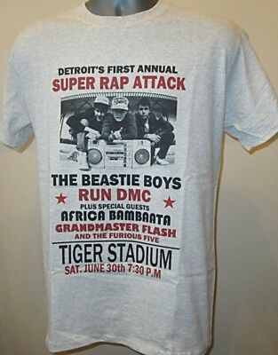 Detroit Rap Attack Music Poster T Shirt Retro Hip Hop W053 Beastie Boys Run DMC