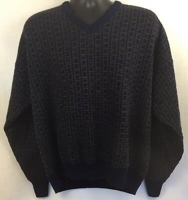 Vintage North Winds By Cotton Traders Acrylic Wool V-Neck Sweater Large Italy