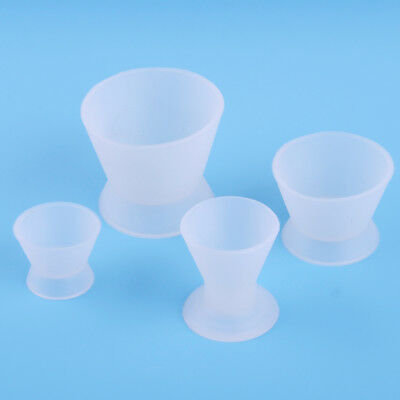 4Pcs/Set Dental Lab Flexible Silicone Dappen Dish Mixing Bowl Cup 2.5/3/4/ 5cm