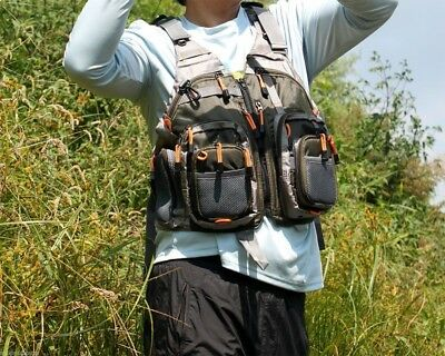 Fly Fishing Vest for Anglers Mesh Adjustable for Men and Women with Multi