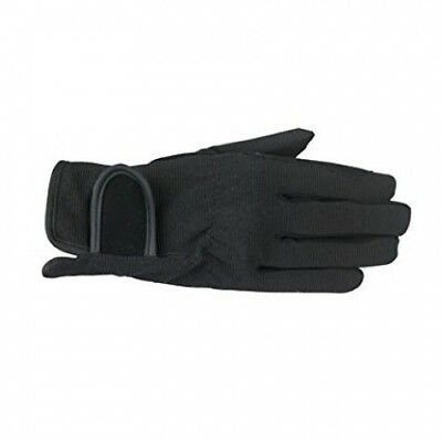 (JRL, Black) - Horze Spirit Multi-Stretch riding gloves - Child. Brand New