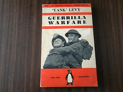 Vintage YANK LEVY GUERRILLA WARFARE Penguin Book 1942 INFANTRY JOURNAL WWII
