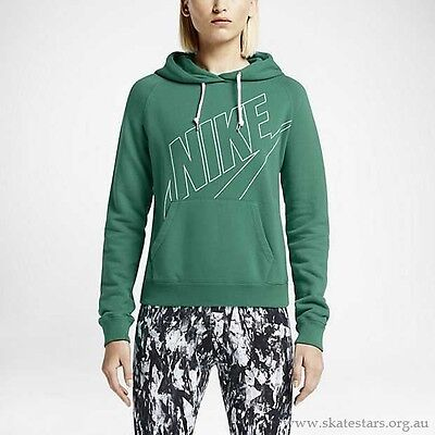 New Women's Nike Nike Rally Logo Pullover Hoodie Green Size Xs 644198 347