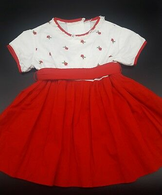 Vintage Girl Baby Toddler Lace Rose floral Party Dress