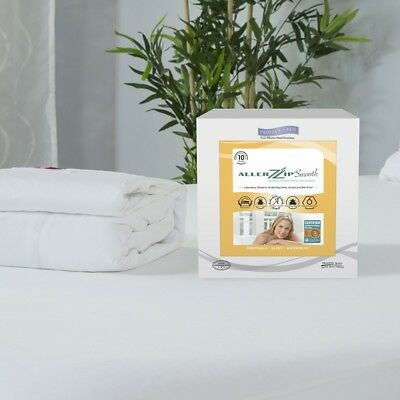 AllerZip Smooth Mattress Case-Water, Allergy, Dust, & Bed Bug Proof- All Sizes!
