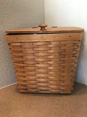 Longaberger 1995 Hostess Mail Basket with Lid and Protector 10600