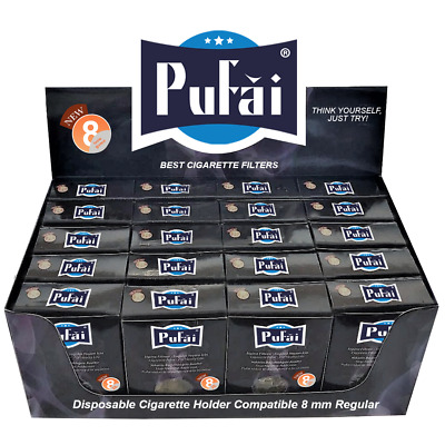 Pufai Reusable Cigarette Filters Tar Blocker Compatible 8 mm Regular 600 Pieces