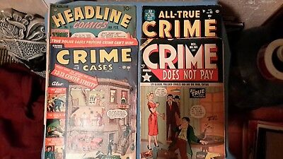 Headline comics#3 -crime cases #9- all true crime#48 -crime does not pay #105