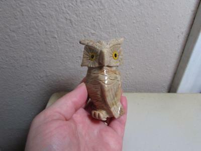 Owl, Hand carved Marble from the Andes of Peru. Rich Colored Stone Owl, Unique