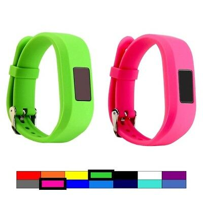 (2PCS - GREEN & PINK) - For Garmin Vivofit 3 and Vivofit JR, Dunfire Colourful