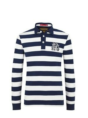 (X-Large, Z73 Navy) - Front Up Rugby Men's World Tour Rugger Long Sleeve Polo