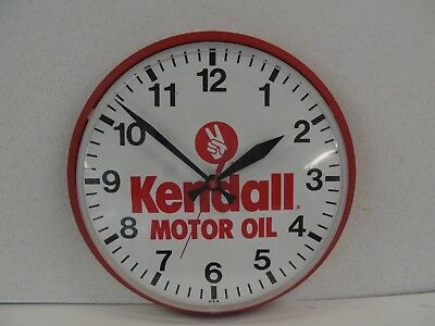 Vintage Kendall Motor Oil Clock - Made In U.s.a.
