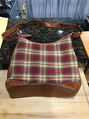Longaberger Purse in orchard plaid