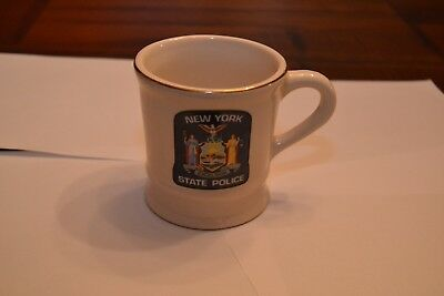 New York State Police coffee mug with 75 Centennial and Gray Rider.