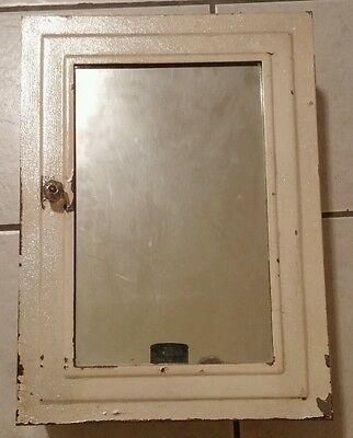 Vintage Industrial Metal Surface Mount Medicine Cabinet Mirror