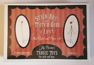 Stick Boy and Match Girl In Love Note Card and Figure Set (2004, Tim Burton)