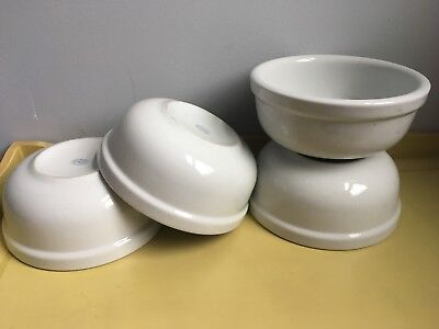 RARE Vintage HEAVY IDG White IRONSTONE Porcelain CERAMIC Bowls * Hard to Find!