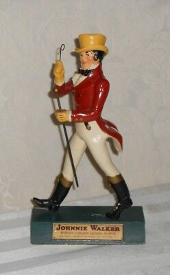 Johnnie Walker Red Statue Striding Man 10-11 inches tall Wood Bar Figurine