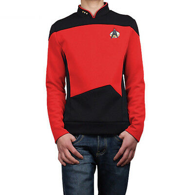 Star Trek: The Next Generation TNG Red Uniform Only Coat Cosplay Costume C018