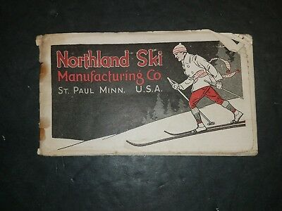 c1920 NORTHLAND SKIS Catalog & Guide Skiing Snowshoes St Paul Minnesota Jumping