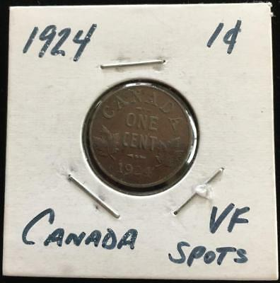 1924 Canada 1 Cent Better Grade Semi Key Date