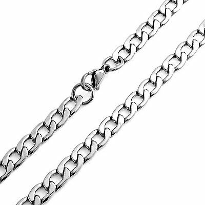 Bling Jewelry Large 8mm Curb Cuban Stainless Steel Chain Necklace 30 Inches