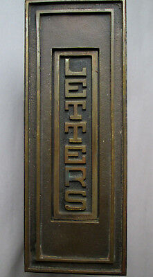 Antique VERTICAL LETTERS Mail Slot Bronze,Brass Hinged