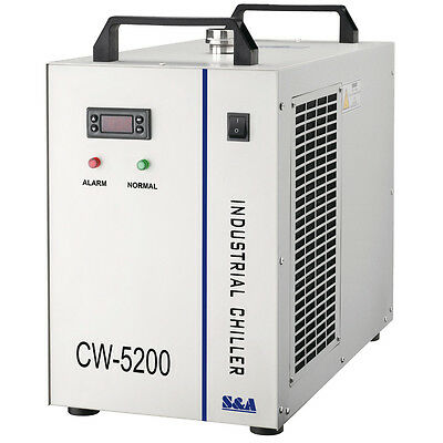 AC 1P 220V CW-5200BG Industrial Water Chiller for 130W/150W Laser Tube Cooling