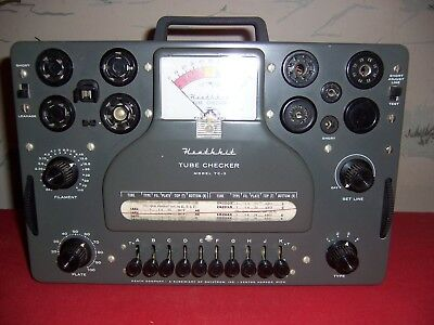 Vintage Heathkit Model TC-3 Tube Tester with manual-Excellent working condition