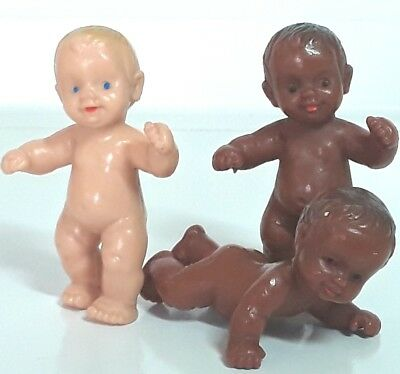 Anatomically correct baby doll figure toy figurines Boy Girl Black Bulk Vintage