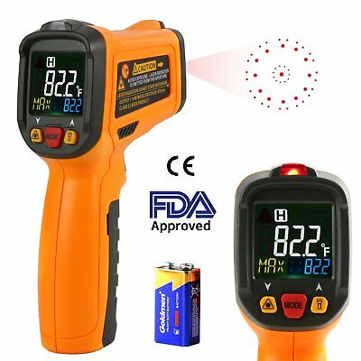 Infrared Thermometer AIDBUCKS PM6530B Digital Laser Non Contact Cooking IR