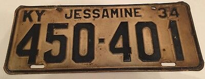 1934 Kentucky License Plate