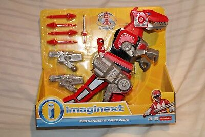 IMAGINEXT FISHER-PRICE MIGHTY MORPHIN POWER RANGERS RED RANGER and T-REX ZORD