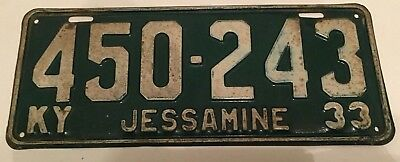 1933 Kentucky License Plate