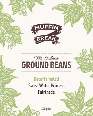 Muffin Break-Decaf Blend-Ground Coffee Beans-200g-BEACON FOUNDATION*
