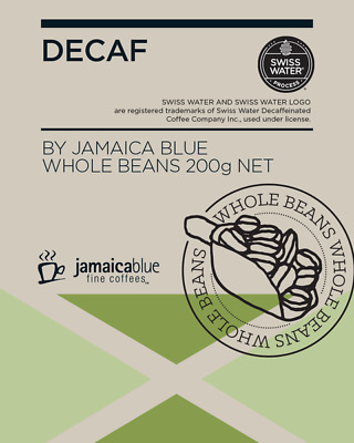 Jamaica Blue-Decaf-Whole Coffee Bean-200g-BEACON FOUNDATION*