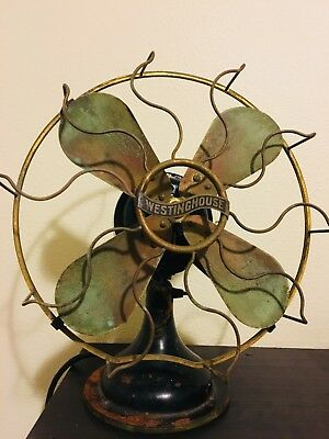WESTINGHOUSE Style 162629 Brass Blades Antique Electric Fan (1911)