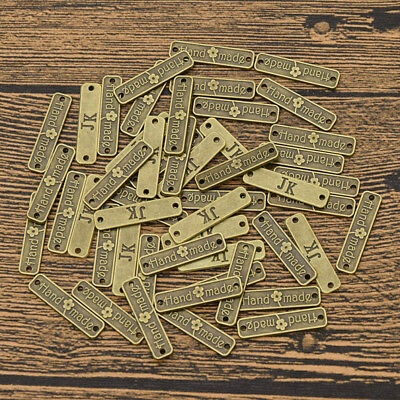 50 PCS DIY Bronze Alloy Flower Patch On Jeans Hand Made JK Charms Connector