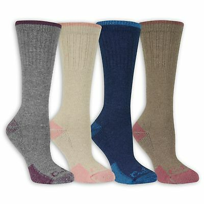 Carhartt Women's Cold Weather Wool Crew Socks 4 Pairs, Cold Weather, Arch