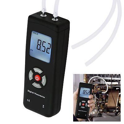 Handheld Differential Pressure Manometer Air Condition System Measurement ±2PSI