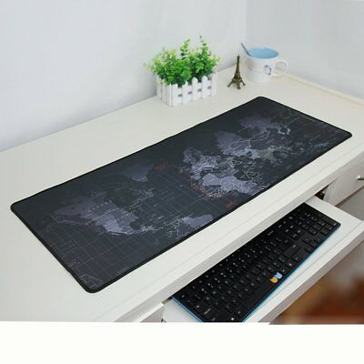 Large XL Size Anti-Slip World Map Game Mouse Pad Speed Gaming Mat For Laptop PC