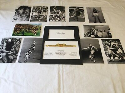 """Royce Hart Richmond Tigers Legend signed card matted to fit 8""""x10""""+ Photo set"""